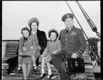 Air Vice-Marshall D V Carnegie with his family
