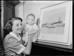 Mervyn Lee, the youngest child to fly in a flying boat