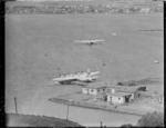 TEAL flying boats at Evans Bay, Wellington