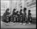 Black Watch Band outside the Wellington Town Hall