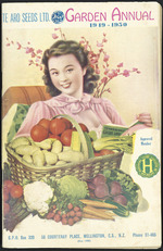 Te Aro Seeds Limited :Garden annual, 1949-1950. Printed by L T Watkins Ltd., Cuba Street, Wellington [Front cover. 1949].