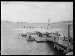 Solent flying boat Awatere, Evans Bay, Wellington