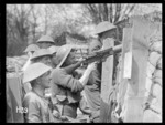 A lewis gun in the front line, World War I