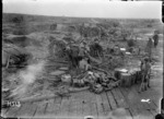 Howitzer batteries in action at Spice Farm during World War I