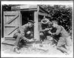Testing water supply points in France during World War I