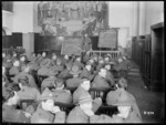 Unidentified New Zealand World War I soldiers in a classroom, Mulheim, Germany