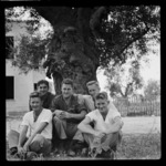 Escaped New Zealand prisoners of war, Taranto transit camp, Italy - Photograph taken by W A Brodie