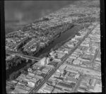 Hamilton, showing railway bridge and Victoria Street