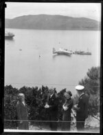Launches refuelling the flying boat, Centaurus, Wellington Harbour