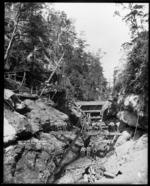 Water pumping equipment at Wakamarina Gorge, Marlborough