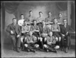 Unidentified young players, 1921 soccer team, from the Stange's Football Club, probably Christchurch district