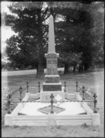 Memorial stone on grave of Isabel Maria Munns, cemetery unidentified, possibly Christchurch district