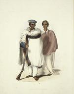 Angas, George French  1822-1886 :Honi Heki and Patuone. George French Angas [delt]; W. Hawkins [lith].  Plate 1, 1847.
