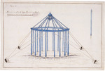 Artist unknown :[Plan showing the structure of an observatory tent. 1769 or early 1770s?]
