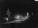 Queen Street, Auckland, illuminated in celebration of peace after World War I