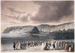 Lauvergne, Barthelemy, 1805-1871 :Plage de Korora-reka (Nouvelle Zelande) / Lauvergne del ; Himely sc. ; de Sainson edit ; Finot imp - [Paris ; A Bertrand, 1835]