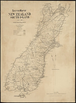 Sketch map of New Zealand