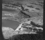 Whakamaru Hydro, Taupo, includes dam, industrial area housing and farmland