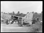 Loading a C47 transport aircraft at Pallikulo airfield, Espiritu Santo, Vanuatu