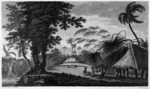 Hodges, William, 1744-1797 :Afia-too-ca ; a burying place in the Isle of Amsterdam / drawn from nature by W. Hodges ; engrav'd by W. Byrne. - London ;  Strahan, 1777.