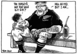 Scott, Tom  (1947- )  :The jersey's not for sale is it sir? 4 August 1995.