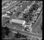 Mt Roskill/Onehunga area, Auckland, including unidentified business premises and rows of houses