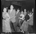 The public dancing in Mercer Street, Wellington