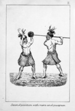 Koch, Augustus, 1834-1901 :Second position with mere and puapua [Wellington, 1891]