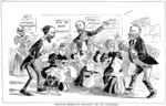 [Blomfield, William], 1866-1938 :Would-be members of Parliament and the tailoresses. N.Z. Observer and Free Lance, 27 June 1896.