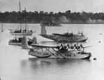 Flying boats, Mechanics Bay, Auckland