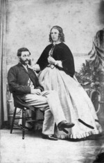 Photographer unknown : Arthur William Follett Halcombe and Edith Stanway Halcombe, husband and wife