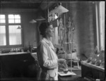Woman inside a laboratory, Wallaceville Animal Research Centre