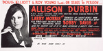 Doug Elliott & Roy Young presents on stage in person ... Allison Durbin, N.Z.'s most exciting new star, Gold Disc award winning princess of pop; with special guest star Larry Morris ... plus ... Bobby Davis. [1968].