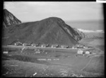 Freezing workers' cottages at northern end of Tokomaru Bay