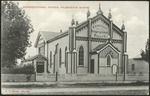 [Postcard]. Congregational Church, Palmerston North. New Zealand Post-card (carte postale) F T Series no. 882 [1906].
