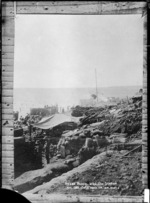J M, fl 1915 (Photographer) : Scene on the beach at Anzac Cove, Gallipoli, Turkey