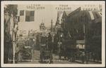 Postcard. Queen Street, Auckland, Fleet week, 351. C.B & Co. Ltd. Real photograph by Ernest de Tourret, Whangarei, N.Z. [1908?]