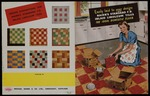 Michael Nairn & Co Ltd (Kirkcaldy, Scotland) :Easily laid to your design, Nairn's standard F.B. inlaid linoleum tiles, the ideal domestic floor. Printed in Scotland, Allen Litho, Kirkcaldy [Front and back cover spread. 1950s]