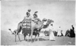 Nurses riding camels in Egypt, during World War 1