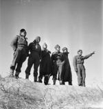 World War 2 soldiers from Maori Battalion near Azizia, Libya
