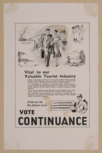 Eph-F-ALCOHOL-Continuance-1938-01-06: Vital to our valuable tourist industry. Strike out the two bottom lines - vote  Continuance [1938]