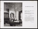 Eph-A-BUILDING-SUPPLIES-1907-01-24: Briscoe & Co Ltd :The breakfast room. A cheerful cosy breakfast room. Residence Dunedin, Wunderlich Art Metal ceiling composed of Panelling 152, cornice 25. Wunderlich Art Metal ceilings are the most effective and most durable form of decoration [ca 1907]