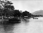 New Zealand troops landing in Samoa during World War I