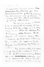 3 pages written by Sir Donald McLean, from Secretary, Native Department -  Administration of native affairs