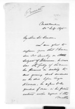3 pages written 20 Jul 1875 by E T Brissenden in Auckland Region to Sir Donald McLean, from Inward letters - Surnames, Bra - Bro