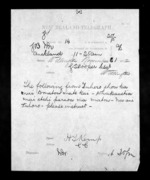 1 page written 21 Nov 1872 by Henry Tacy Kemp in Auckland Region to George Sisson Cooper in Wellington City, from Native Minister - Inward telegrams
