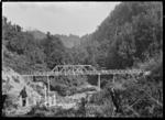 Tangarakau Gorge, a road bridge and grave site.