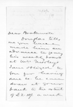 2 pages written 3 Sep 1870 by Sir Donald McLean in Wellington to J B Brathwaite, from Inward letters - Surnames, Bra - Bro
