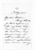 4 pages written 1 Feb 1870 by J B Brathwaite to Sir Donald McLean, from Inward letters - Surnames, Bra - Bro