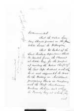 4 pages written 9 Jun 1860 by Sir Donald McLean to Sir Thomas Robert Gore Browne and Christopher William Richmond, from Secretary, Native Department -  Administration of native affairs